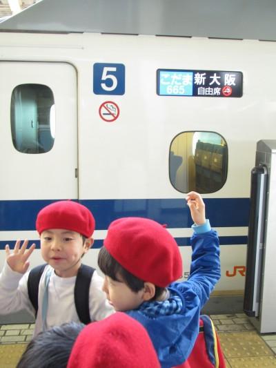 お別れ遠足帰り新幹線IMG_7629