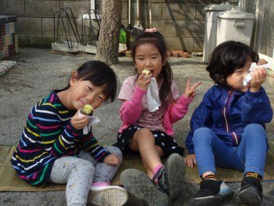 DSC07710蒸かし芋食べる